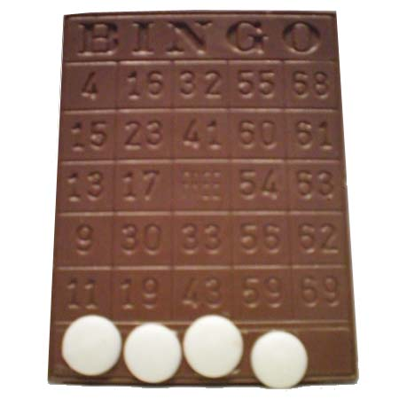 Bingo Card Milk Chocolate (Solid) 4 oz.