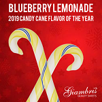 Blueberry Lemonade Candy Canes (1 Doz.)