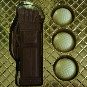 Milk Chocolate Golf Set