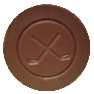 Hockey Puck Milk Chocolate 2.5 oz.