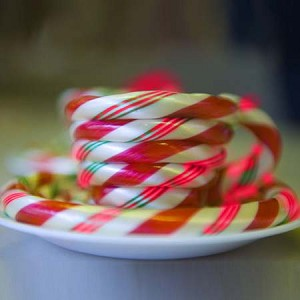 Peppermint Candy Cane Cup & Saucer