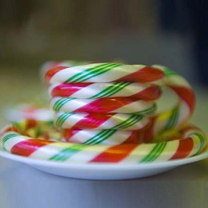 Wintergreen Candy Cane Cup & Saucer
